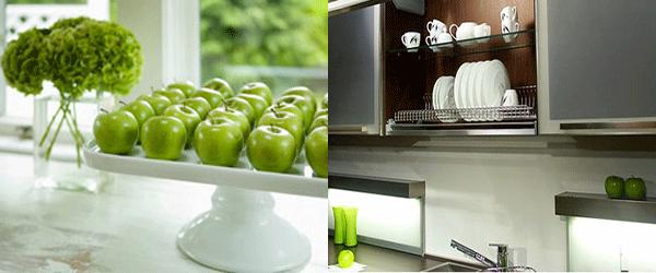 인테리어 > 인테리어,가구,가전 > 그린 애플 컬러의 주방 인테리어